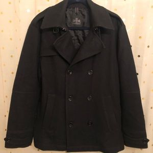 Express men's Large wool peacoat